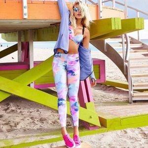PINK watercolor leggings
